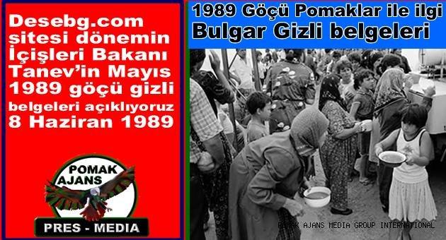 1989 Göçü Pomaklar ile ilgi  Bulgar Gizli belgeleri