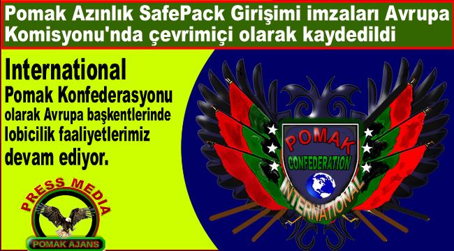 Pomak Azınlık SafePack Girişimi imzaları Avrupa Komisyonu'nda çevrimiçi olarak kaydedildi