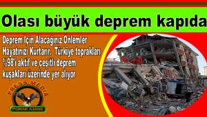 Olası büyük deprem kapıda
