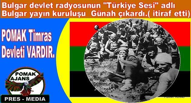 """Bulgar devlet radyosunun """"Türkiye Sesi"""" adlı Bulgar yayın kuruluşu Bulgar Ayaklanması Hakkında Gerçekler """" başlıklı bir konuşması."""