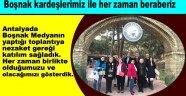 Antalyada Boşnak Medyanın yaptığı toplantıya, nezaket gereği katılım sağladık. Her zaman birlikte olduğumuzu ve olacağımızı gösterdik.