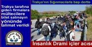 Trakya'nın Sığınmacılarla başı dertte